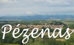 Pézenas from Castelnau-de-Guers, Hérault, France