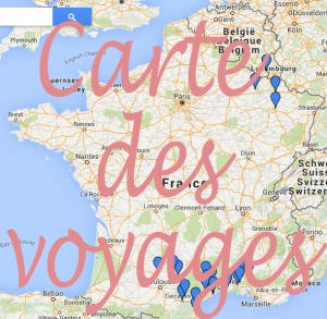 carte des voyages