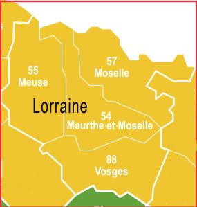 carte Lorraine