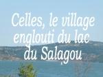 le lac du Salagou vu depuis le village de Celles - Copie