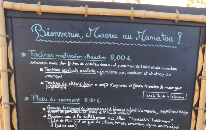 menu du manatoa le food-tuck de chef teheuira