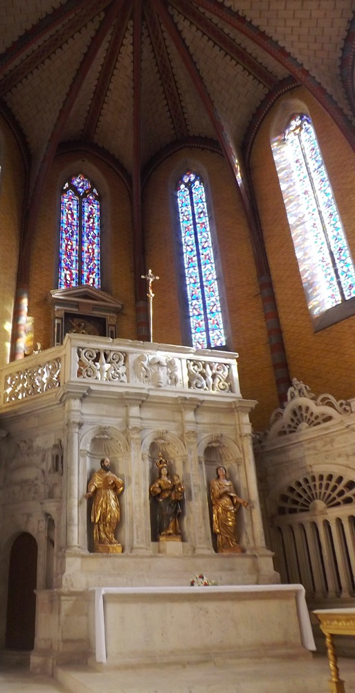détail du retable de l'abbaye st pierre de moissac