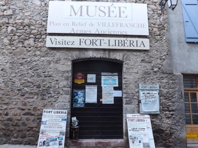 entree du musee de fort liberia a villefranche de conflent