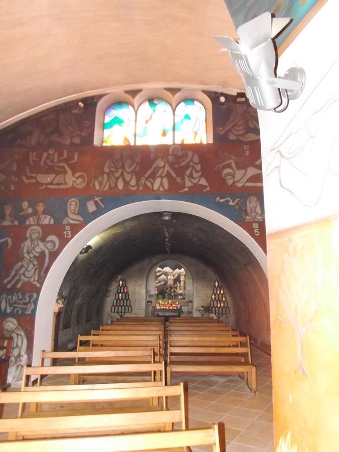 fresques de bringuier dans la chapelle ND de la Salette a Sete