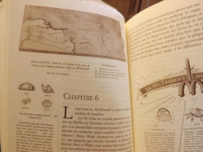 intérieur du livre l'extravagant voyage du jeune et prodigieux T.S Spivet