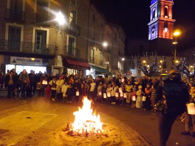 le feu pour le rituel de cacha fuoc pegoulade pezenas decembre 2015