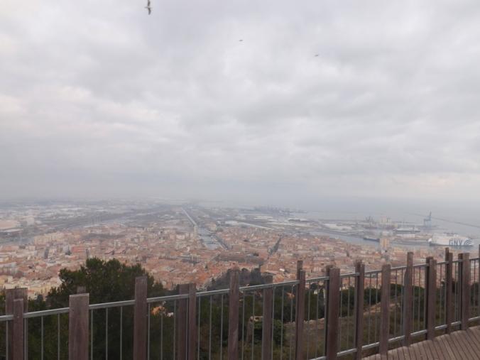 le port et la ville depuis le panoramique de sete