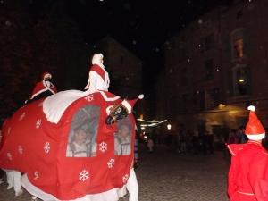 Le Poulain de Pezenas en habit de nadal