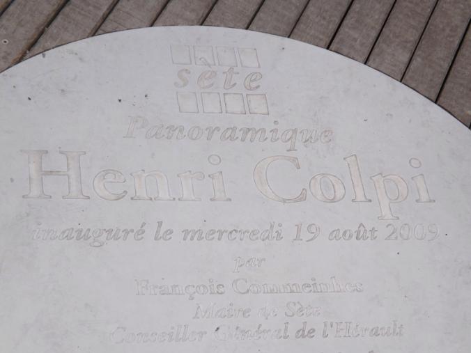 plaque inauguration du panoramique de sete