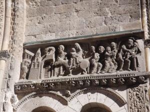 sculpture portail abbaye st pierre de moissac