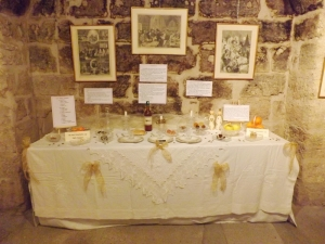 table décoree noel occitan expo pezenas si noel m'etait conte