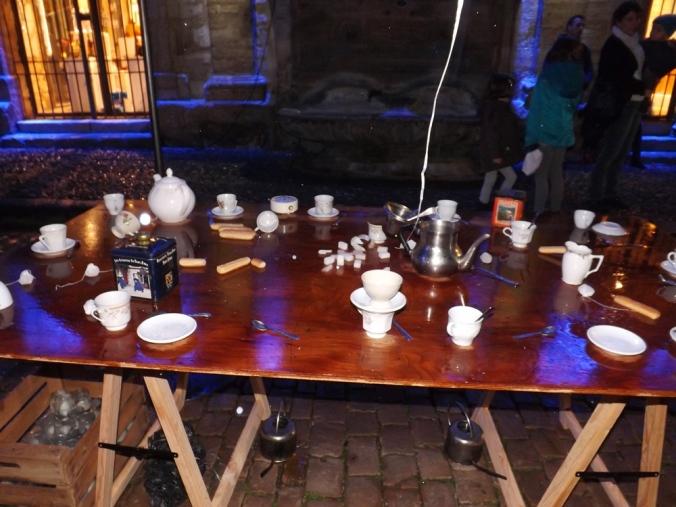 table du goûter noel au pays des merveilles pezenas
