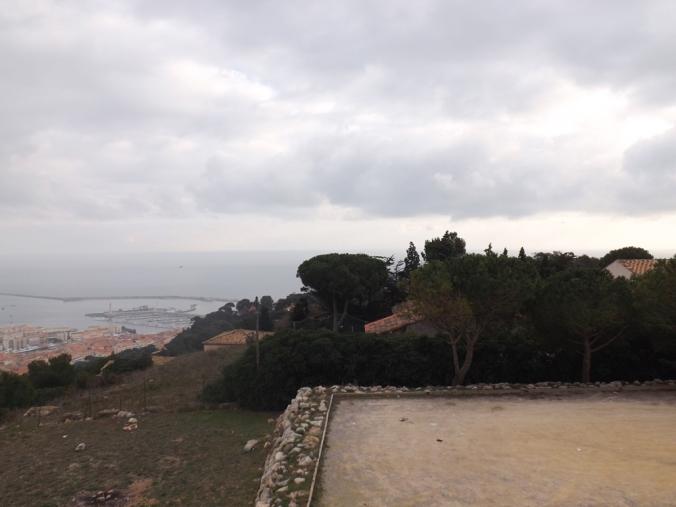 vue sur la mer depuis le panoramique de sete