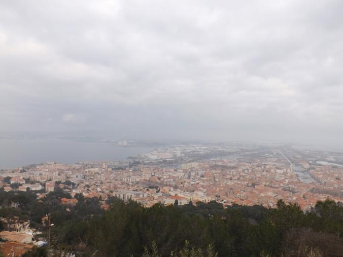 vue sur la ville de sete depuis le panoramique du mont st clair