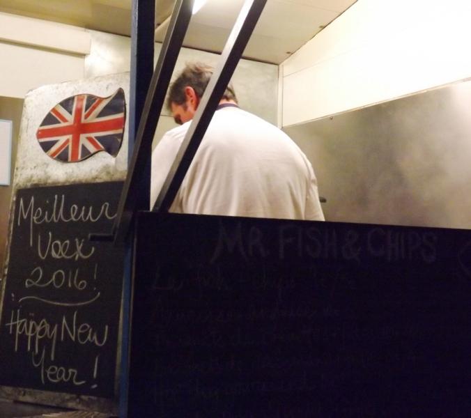 food truck britannique de mr fish and chips