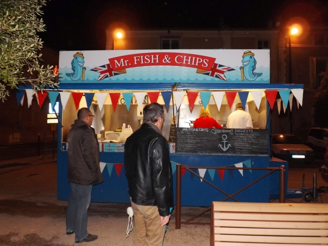 Food truck mr fish and chips soir a tourbes