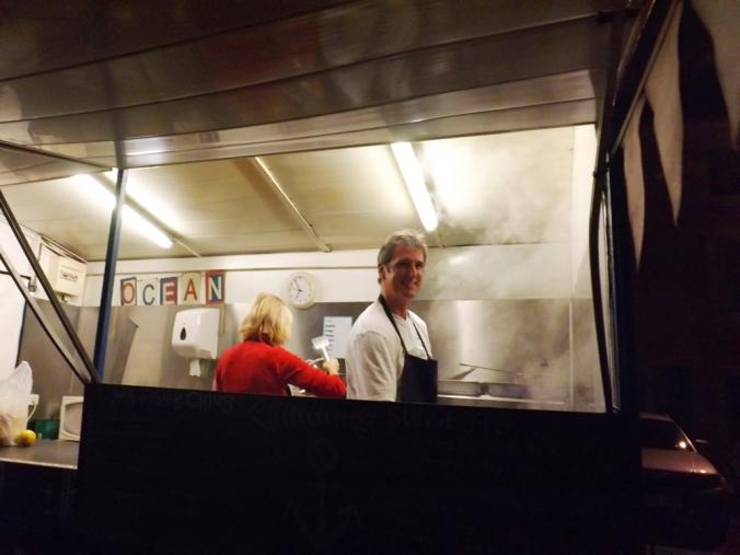 le beau sourire du chef du food truck anglais