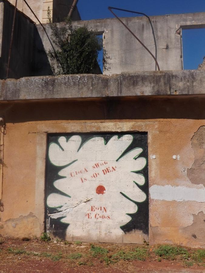 street art a Celles au Lac du Salagou