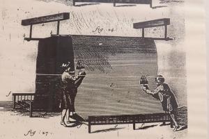 affiche ancienne metier de drapiers villeneuvette
