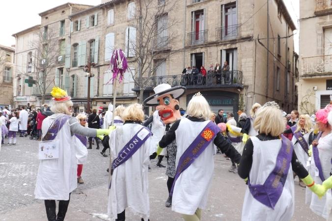 les Miss et caricatures madame de Fontenay Carnaval de Pezenas 2016