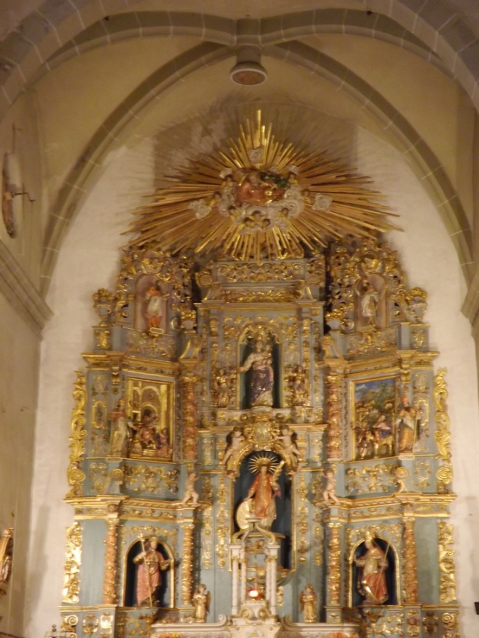 retable eglise st vincent d'en haut village de Eus