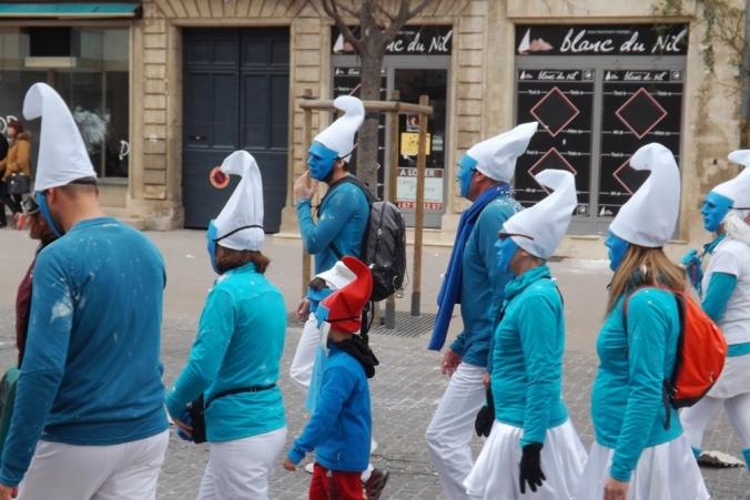 Schtroumpfs carnaval Pezenas 2016
