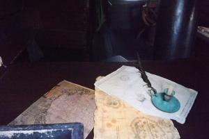 cartes cabine capitaine du nao Victoria