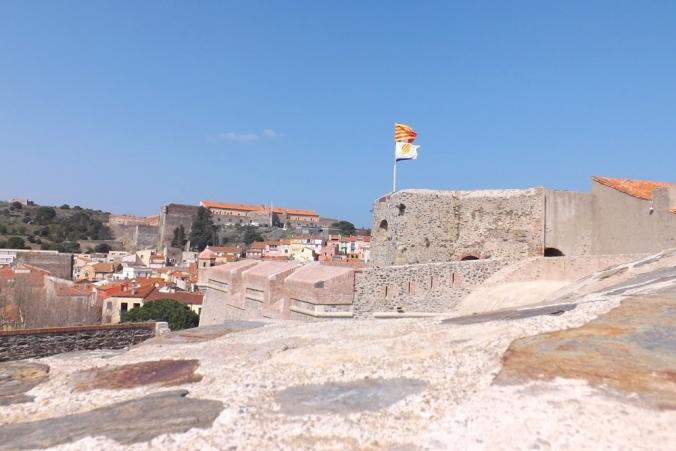 fort miradou vu depuis le chateau de collioure