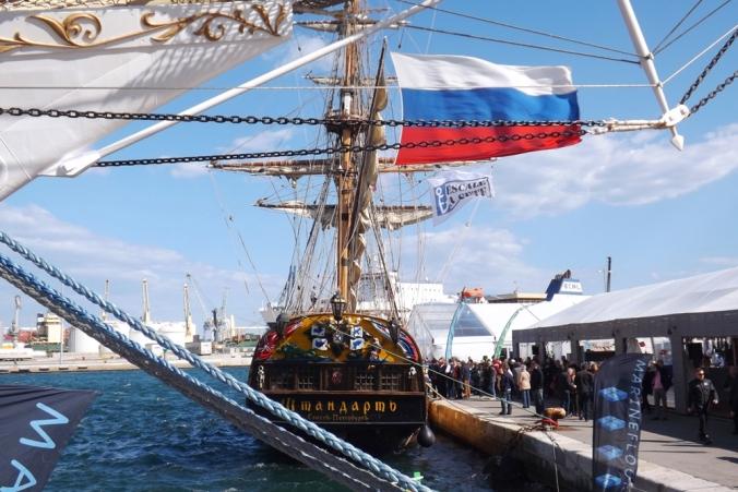 le shtandart voilier russe escale a sete