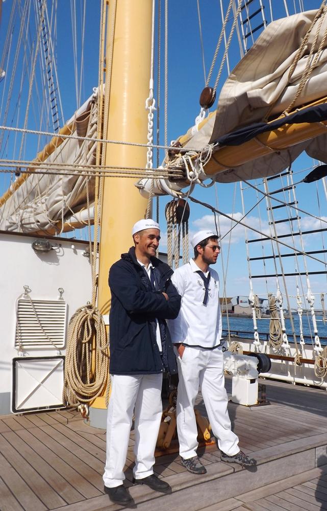 marins a bord du santa maria manuela