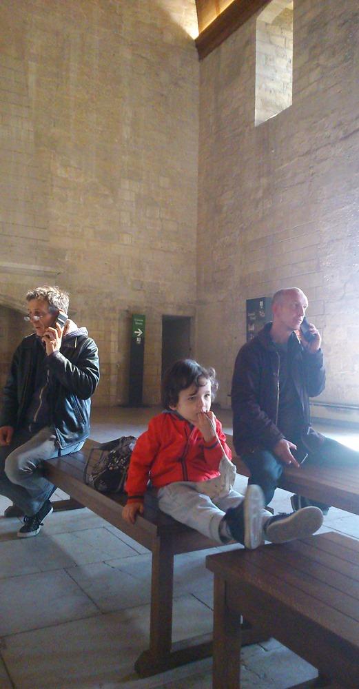Matthieu, Etienne et Frederic salle d'apparat palais des papes avignon