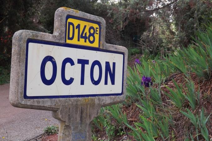 panneau entree d'agglomération village Octon
