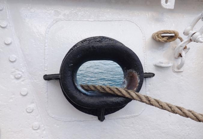 passage de corde sur le santa maria manuela