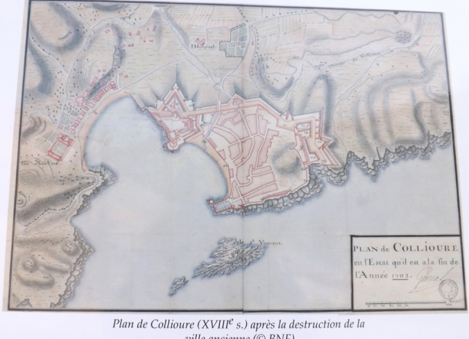 plan de collioure en 1702