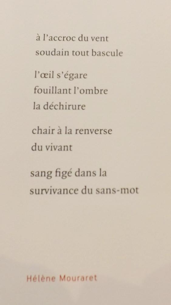 poème de helene mouraret