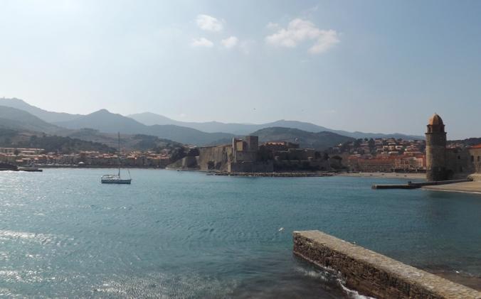 vue de Collioure depuis la jetee