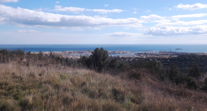 vue sur le port du cap d'agde depuis le mont saint loup