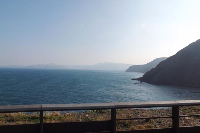 vue sur l'espagne cote vermeille depuis le phare de cerbere