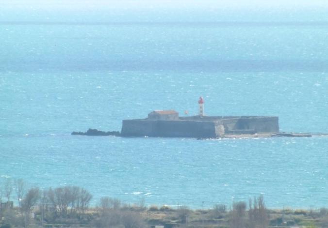 zoom sur le fort de Brescou