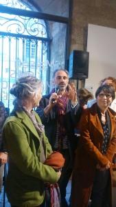 Gerard Garcia et des creatrices expo vies d'ici et d'ailleurs Pezenas