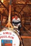 Kevin dans la structure de l'ancien Poulain de Pezenas