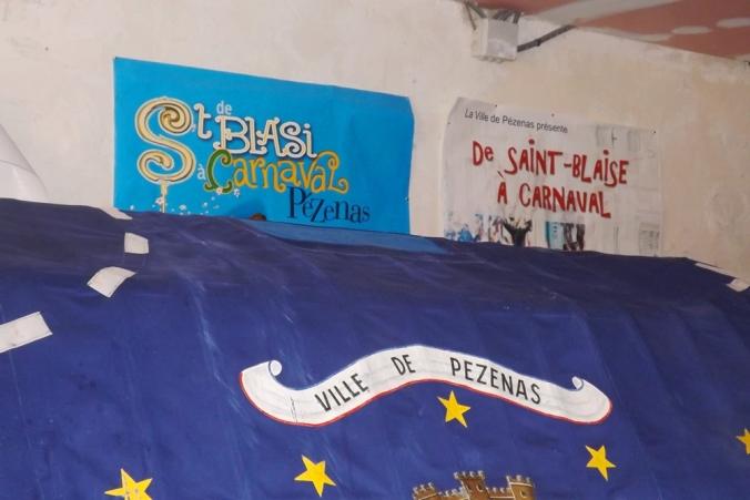Poulain et affiches du Carnaval Pezenas