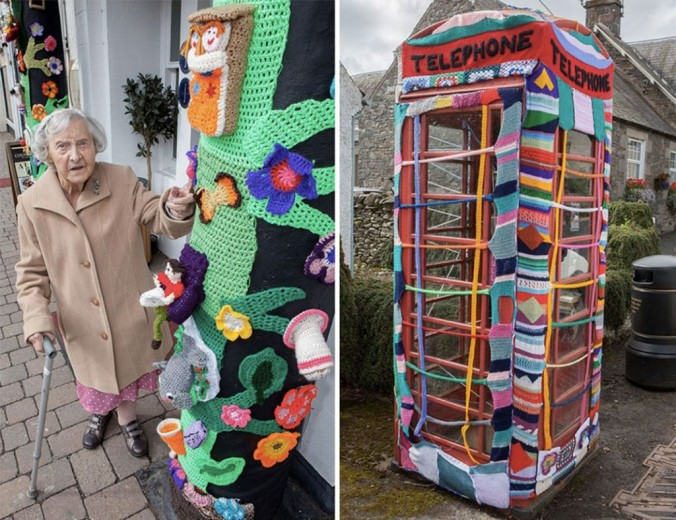 grace brett yarn bombing