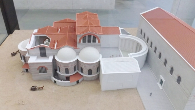 maquette des thermes deconstantin musee arles