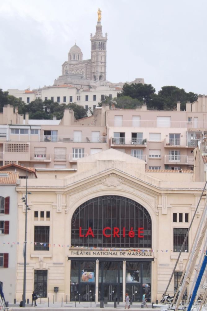 Marseille la Criee et notre dame