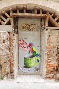 street art marseille perroquet