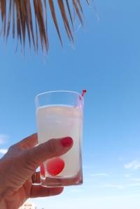 verre sur la plage