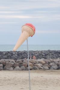 glace repere de plage