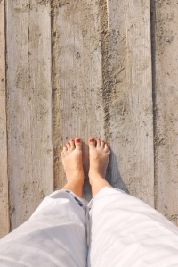pieds planches plage
