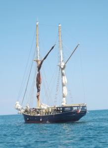 voilier vu depuis bateau sete